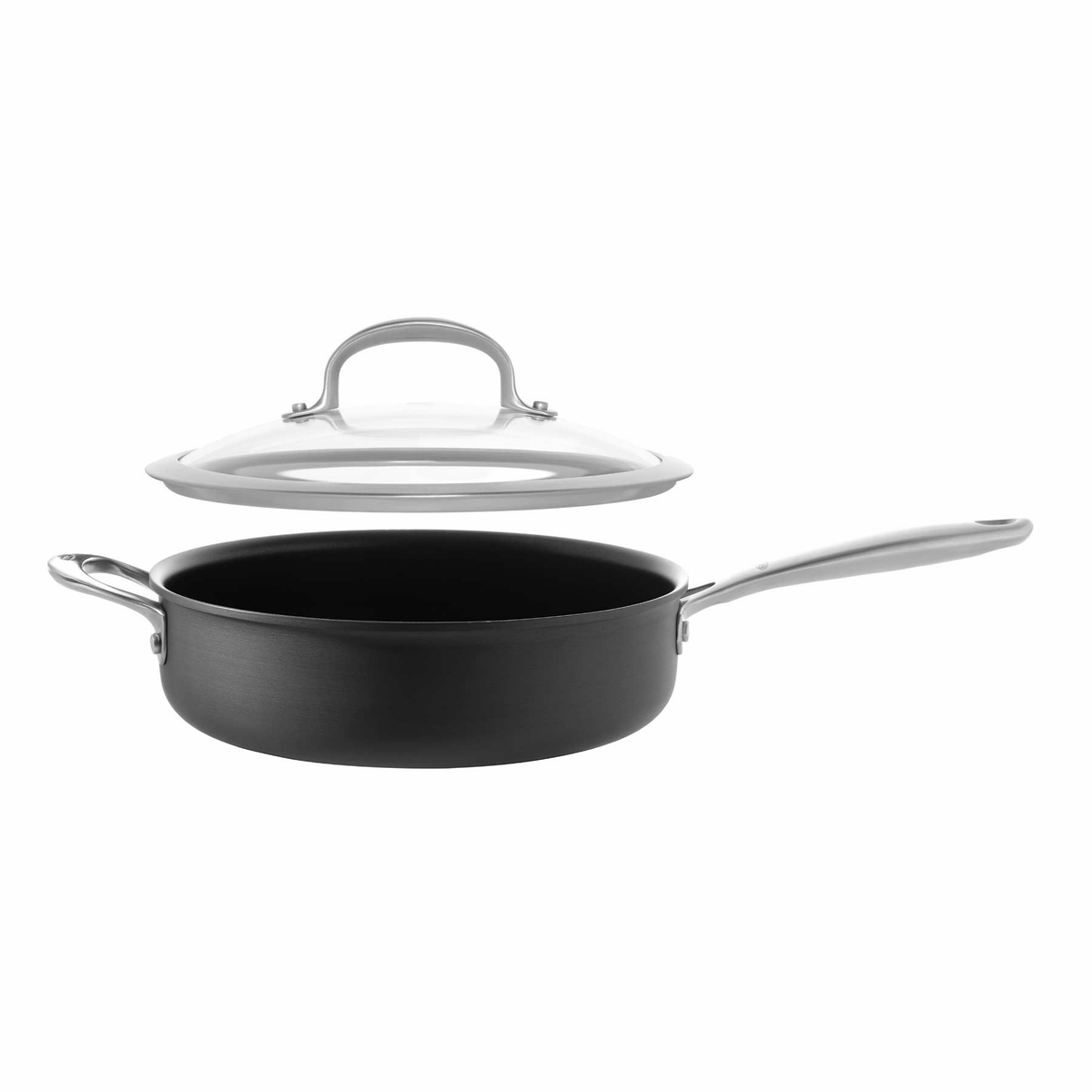 oxo good grips non stick pro covered saute pan with helper handle 3 quart at chefs corner store. Black Bedroom Furniture Sets. Home Design Ideas