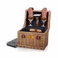 Picnic Time Adeline Napa Picnic Basket with Wine and Cheese Service for Two