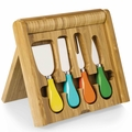 Picnic Time Legacy Carnaval Bamboo Cheese Board - Tool Set