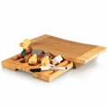 Picnic Time Legacy Concavo Bamboo Cheese Board and Cheese Tool Set