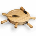Picnic Time Legacy Mariner Cheese Board and Tool Set