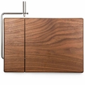 Picnic Time Legacy Meridian Black Walnut Cutting Board with Cheese Slicer