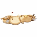 Picnic Time Legacy Sand Trap Cheese Board and Tool Set