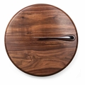 Picnic Time Legacy Solstice Black Walnut Cutting Board Cheese Knife Set