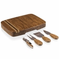 Picnic Time Legacy Verano Cheese Board with Tools, Bamboo