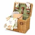 Picnic Time Napa Basket with Wine and Cheese Service for Two, Botanica