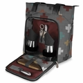 Picnic Time Pixels Sonoma Insulated Tote with Wine and Cheese Service for Two