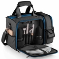 Picnic Time Waves Laguna Insulated Cooler with Deluxe Picnic Service for Two