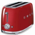 Smeg 4-Slice Toaster, Red