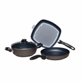 Swiss Diamond 4 Piece Nonstick Cookware Set