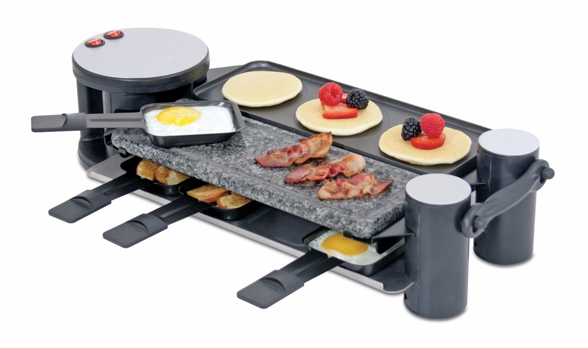 Swissmar Kf 77073 Swivel Raclette 8 Person Party Grill At