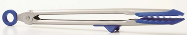 Tovolo 13 Inch Tip Top Tongs, Stratus Blue