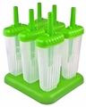 Tovolo Set of 6 Groovy Pop Frozen Treats Molds, Green