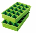 Tovolo Set of 2 Perfect Cube Ice Trays, Lime