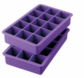 Tovolo Set of 2 Perfect Cube Ice Trays, Royal Purple