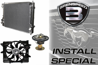 2010-2014 Mustang GT Brenspeed Cooling Package Installed