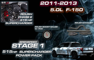 2011 14 F 150 5 0l V8 Stage 1 Roush 515 Hp Supercharger Power Package