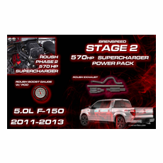 2011-14 F-150 5.0L V8 Stage 2 ROUSH 570 HP Supercharger Power Package