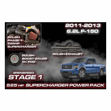 2011-14 6.2L F-150 Stage 1 ROUSH 525 HP Supercharger Power Package