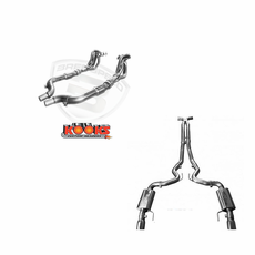 "2015-17 Mustang 5.0 Kooks Full 3"" 1 7/8 Header, cats, & X-Pipe Catback System Polished Tip"
