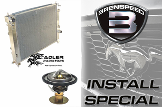 2015-17 Mustang GT Brenspeed Cooling Package W/ Adler High Performance Radiator Installed
