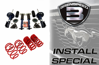 2015-2019 Mustang GT Brenspeed Ford Racing Shock Stuts and Eibach Lowering Spring Package Installed