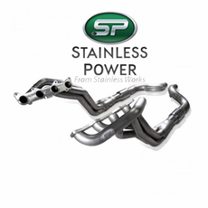 """2015-20 Mustang GT Stainless Power Header: 1-7/8"""" Catted Factory Connect SM15HCAT"""