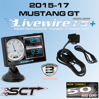2015-17 Mustang GT Custom Tuned SCT Livewire TS+ Performance Ford  Programmer & Monitor 5015PGT15