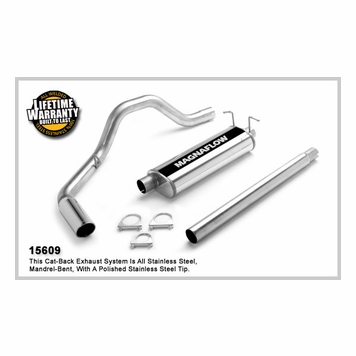 1999 03 F 150 V8 4 6l 5 4l Magnaflow Extended Cab Pickup Single Rear Side Exit Stainless Cat Back System Performance Exhaust