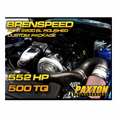 Brenspeed 552HP Paxton NOVI 2200SL Supercharger Package Polished (05-10)Mustang GT