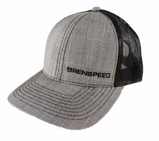 623379c55a7d0 Brenspeed Gray Plaid Mesh Snap Back Hat