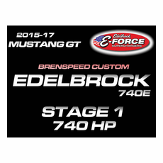 Brenspeed Stage 1 Edelbrock 740HP E-Force TVS2650 Supercharger UPGRADE For 2015-17 Mustang GT 5.0L