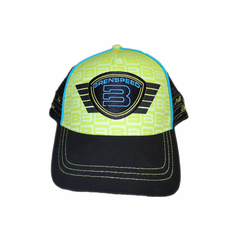 Lime Blue Black Brenspeed Shield Stitched Hat