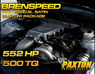 Brenspeed 552HP Paxton NOVI 2200 SL Supercharger Package Satin  (05-10)Mustang GT