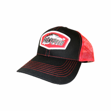Red Black Brenspeed Horse Patch Hat