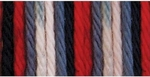 Bernat Sugar'n Cream Cotton Ombre Yarn - Red, White & Blue