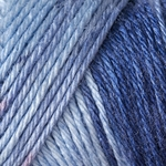 Caron Simply Soft Ombre Yarn 4 oz - Saturday Blue Jeans (Clearance)