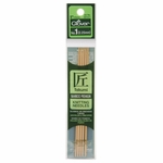 """Clover Bamboo Double Point Knitting Needles 5"""" 5/Pkg - Size 1 (2.25mm)"""