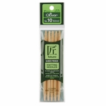 """Clover Bamboo Double Point Knitting Needles 5"""" 5/Pkg - Size 10 (6mm)"""