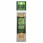 """Clover Bamboo Double Point Knitting Needles 5"""" 5/Pkg - Size 10.5 (6.5mm)"""