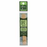 """Clover Bamboo Double Point Knitting Needles 5"""" 5/Pkg - Size 2 (2.75mm)"""