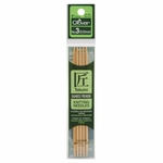 """Clover Bamboo Double Point Knitting Needles 5"""" 5/Pkg - Size 3 (3.25mm)"""