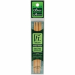 """Clover Bamboo Double Point Knitting Needles 5"""" 5/Pkg - Size 4 (3.5mm)"""