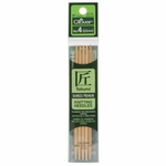 """Clover Bamboo Double Point Knitting Needles 5"""" 5/Pkg - Size 5 (3.75mm)"""