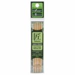 """Clover Bamboo Double Point Knitting Needles 5"""" 5/Pkg - Size 6 (4mm)"""