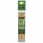 """Clover Bamboo Double Point Knitting Needles 5"""" 5/Pkg - Size 7 (4.5mm )"""
