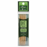 """Clover Bamboo Double Point Knitting Needles 5"""" 5/Pkg - Size 8 (5mm)"""