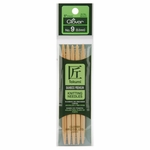 """Clover Bamboo Double Point Knitting Needles 5"""" 5/Pkg - Size 9 (5.5mm)"""