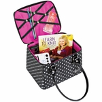 Creative Options Crafter's Tapered Tote - Polka Dots
