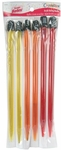 "Crystalites Acrylic Single Point 10"" Knitting Needle Assortment 2 - Susan Bates"